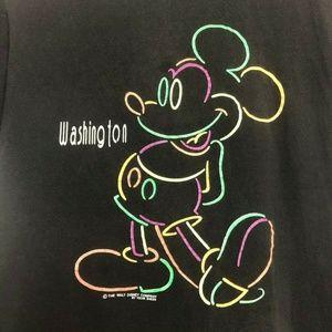 Vintage Disney Mickey Mouse Velva Sheen Made USA W
